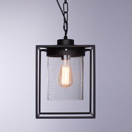 Cuboid Metal + Glass Shade Pendant Light