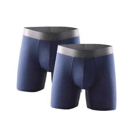 The KG Everyday Technical Boxer Briefs // Navy // Pack of 2 (S)
