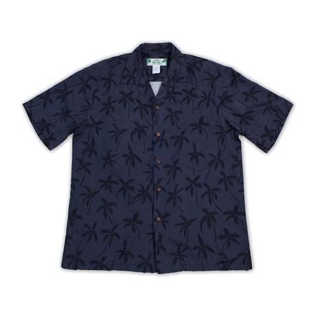 Palm Tree Button Up Shirts // Black (Small)