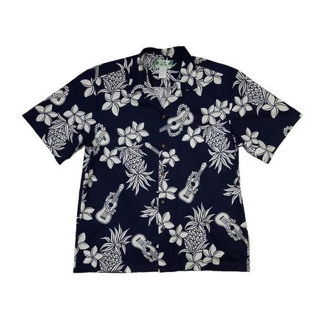 Ukulele Button Up Shirts // Navy (Small)