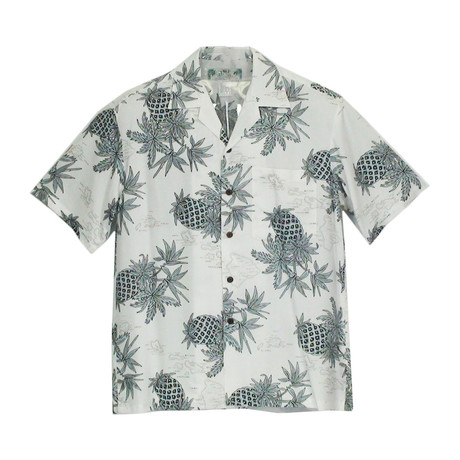 Pineapple Button Up Shirts // White (Small)