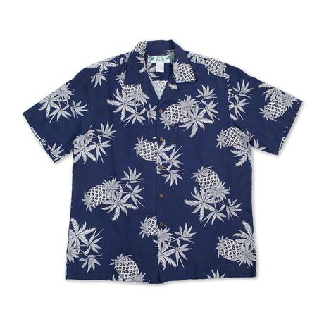 Pineapple Map Shirt // Navy (Small)