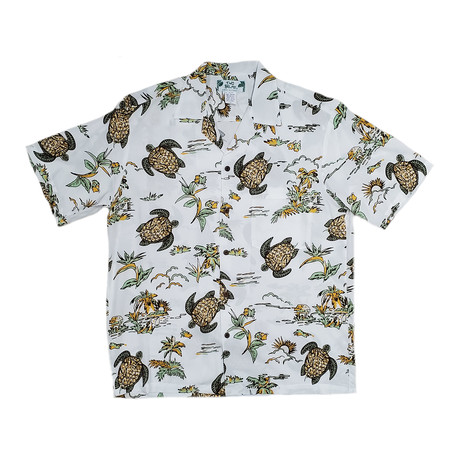 Turtles Button Up Shirts // White (Small)