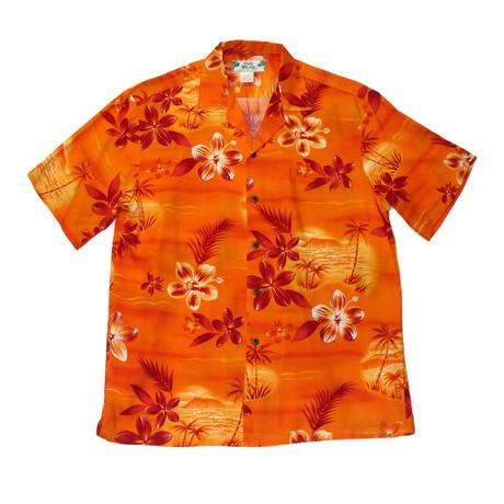 Moonlight Scenic Button Up Shirts // Orange (Small)