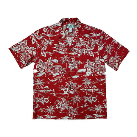 Love Shack Button Up Shirts // Red (Small)