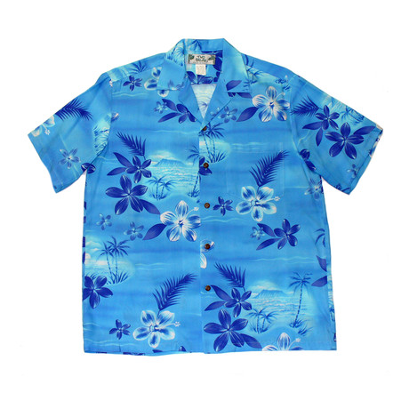 Moonlight Scenic Button Up Shirts // Blue (Small)