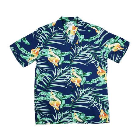 Napili Button Up Shirts // Navy (Small)