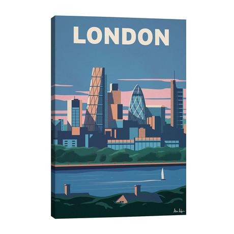 "London Skyline // IdeaStorm Studios (26""W x 40""H x 1.5""D)"