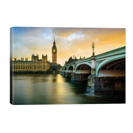 "Big Ben and Palace of Westminster IV // Susanne Kremer (40""W x 26""H x 1.5""D)"