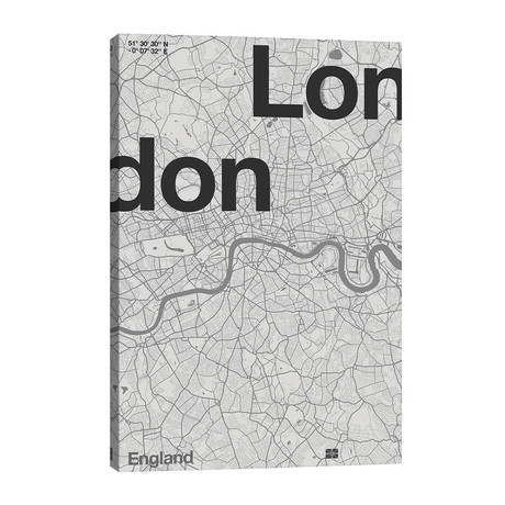 "London Map // Florent Bodart (26""W x 40""H x 1.5""D)"