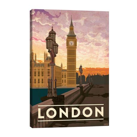 """England-London // Missy Ames (26""""W x 40""""H x 1.5""""D)"""