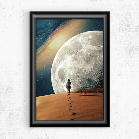 "Alone with the Moon II (11""W x 17""H)"