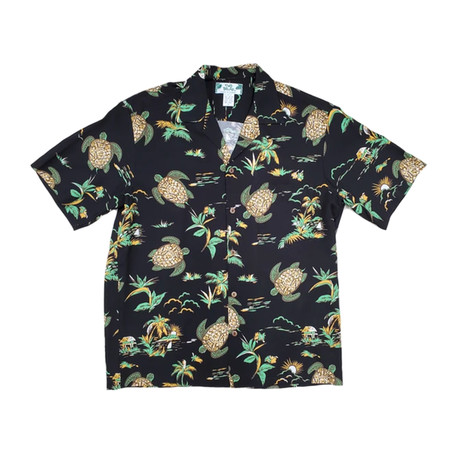 Turtles Button Up Shirts // Black (Small)