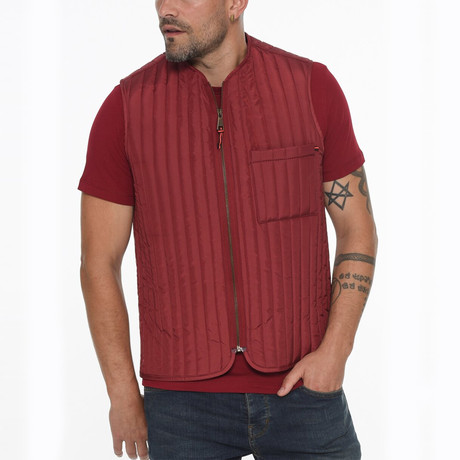 Canyon Vest // Burgundy (Small)