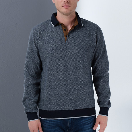 Ryan Sweatshirt // Dotted Dark Blue (Small)