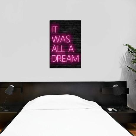 """Pink All Dream // Ink & Drop (26""""W x 40""""H x 1.5""""D)"""