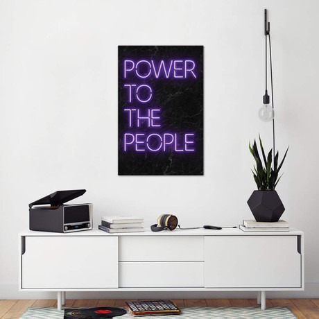 """Power To The People // Ink & Drop (26""""W x 40""""H x 1.5""""D)"""