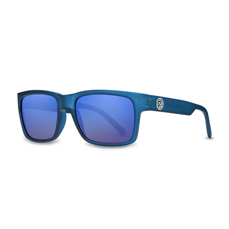 Filtrate Eyewear // John Brown Polarized Sunglasses // Blue Frost + Blue