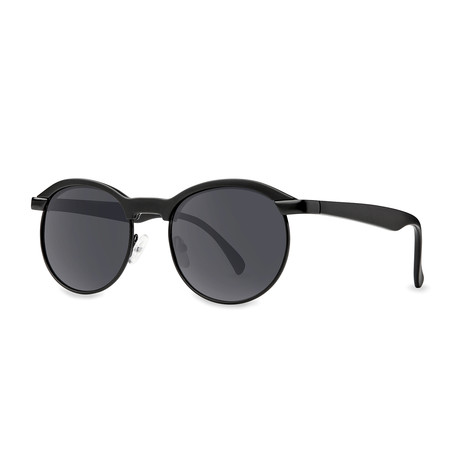 Filtrate Eyewear // Hacienda Polarized Sunglasses (Matte Black + Gray)