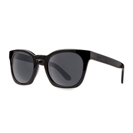Filtrate Eyewear // Bowery Polarized Sunglasses (Black Gloss + Gray)