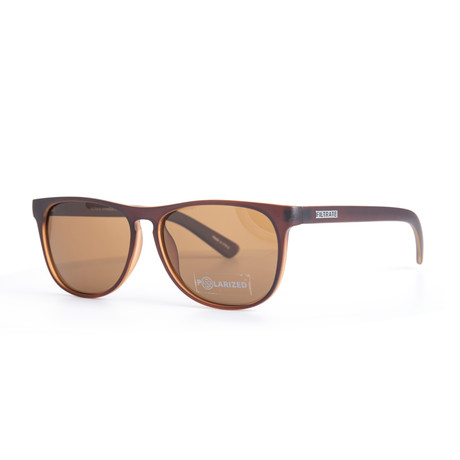 Filtrate Eyewear // Xian Polarized Sunglasses // Choc Matte + Bronze