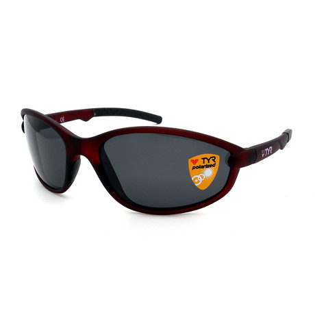 Unisex TR25-43-02 Reef Polarized Sunglasses // Frosted Red + Smoke