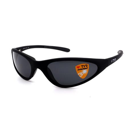 Unisex TR22-01-02 Topanga Polarized Sunglasses // Matte Black + Smoke
