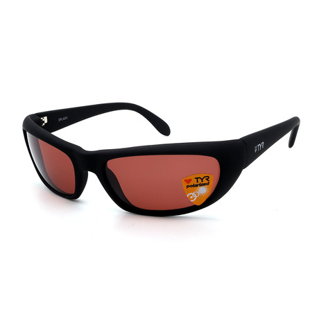 Unisex TR24-01-09 Splash Polarized Sunglasses // Black + Chestnut