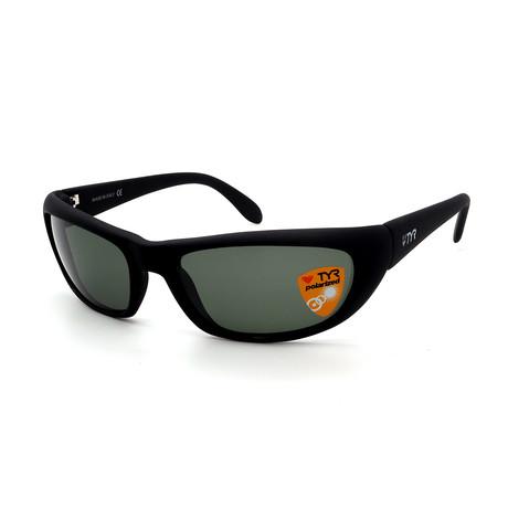 Unisex TR24-01-14 Splash Polarized Sunglasses // Matte Black + Green