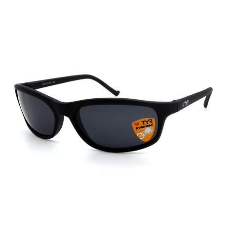 Unisex TR23-18-02 Sunset Polarized Sunglasses // Matte Gunmetal + Smoke