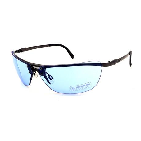 Unisex TR09-21-11 Jekyll Sunglasses // Glossy Gunmetal + Blue