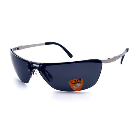 Unisex TR09-22-02 Jekyll Polarized Sunglasses // Matte Silver + Smoke