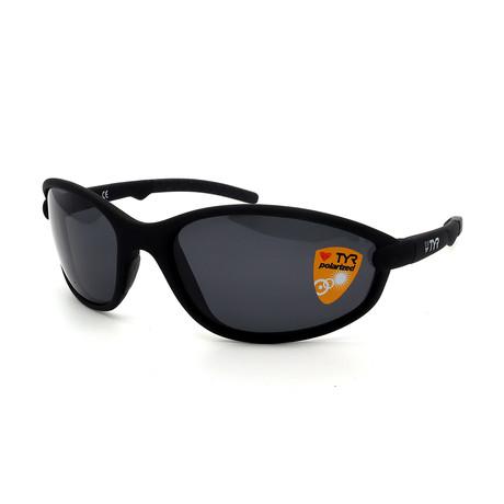 Unisex TR25-01-02 Reef Polarized Sunglasses // Matte Black + Smoke