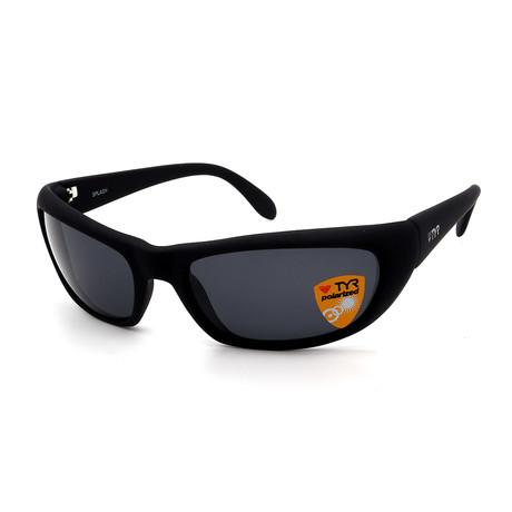 Unisex TR24-01-02 Splash Polarized Sunglasses // Matte Black + Smoke