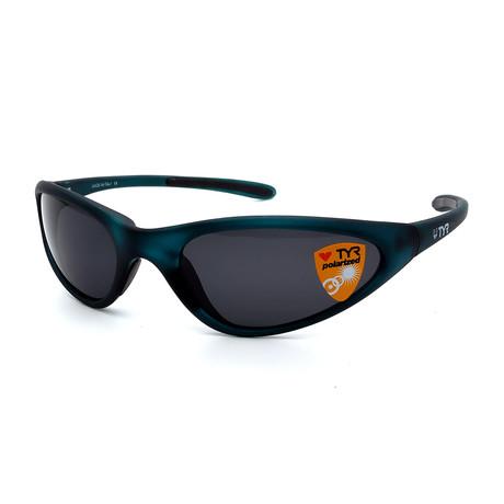 Unisex TR22-52-02 Topanga Polarized Sunglasses // Frosted Green + Smoke