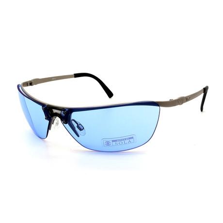 Unisex TR09-22-11 Jekyll Sunglasses // Matte Silver + Blue