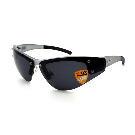 Unisex TR05-20-02 XT5 Polarized Sunglasses // Brushed Aluminum + Smoke