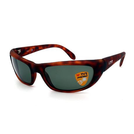 Unisex TR24-60-14 Splash Polarized Sunglasses // Matte Tortoise + Green