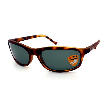 Unisex TR23-61-14 Sunset Polarized Sunglasses // Tortoise + Green