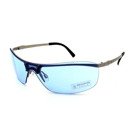 Unisex TR08-22-11 Ventura Sunglasses // Matte Silver + Blue