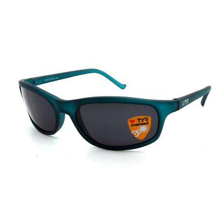 Unisex TR23-52-02 Sunset Polarized Sunglasses // Frosted Green + Smoke