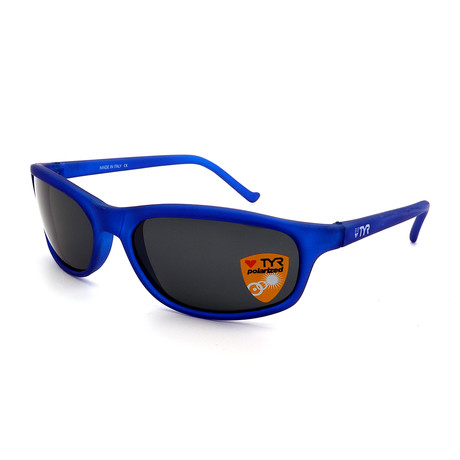 Unisex TR23-31-02 Sunset Polarized Sunglasses // Clear Blue + Smoke