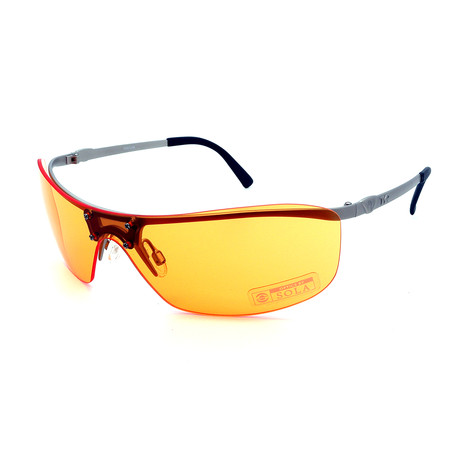 Unisex TR08-22-05 Ventura Sunglasses // Matte Silver + Orange