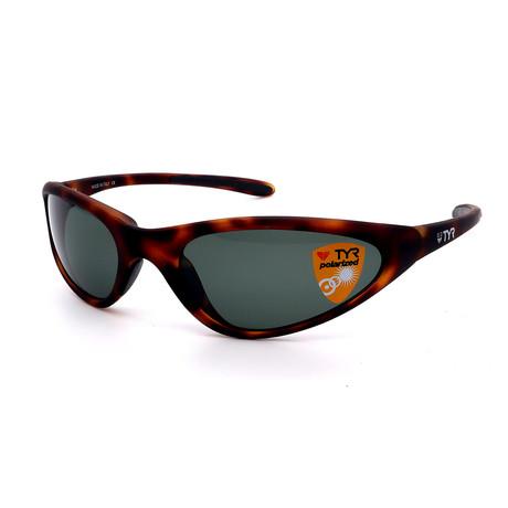 Unisex TR22-61-14 Topanga Polarized Sunglasses // Tortoise + Green