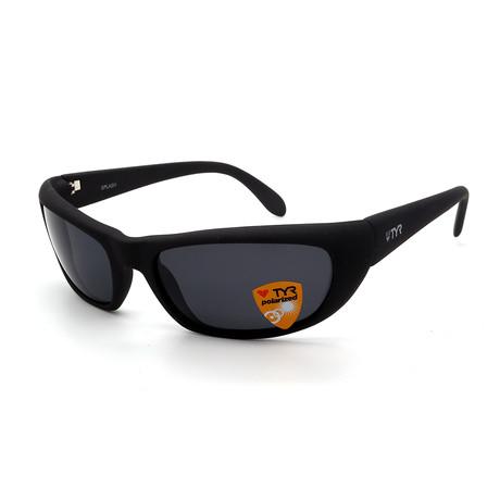 Unisex TR24-18-02 Splash Polarized Sunglasses // Matte Gunmetal + Smoke