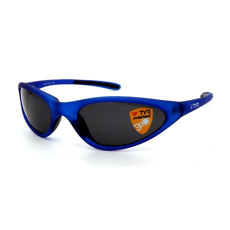 Unisex TR22-31-02 Topanga Polarized Sunglasses // Clear Blue + Smoke