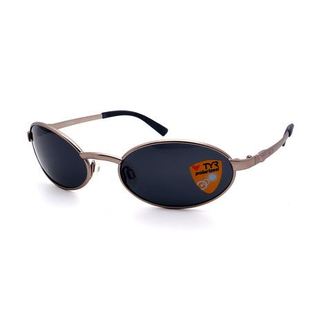 Unisex TR15-65-02 Crystal Polarized Sunglasses // Matte Bronze + Smoke