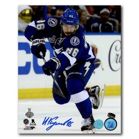 Nikita Kucherov // Tampa Bay Lightning // Autographed 2015 Stanley Cup Final Photo