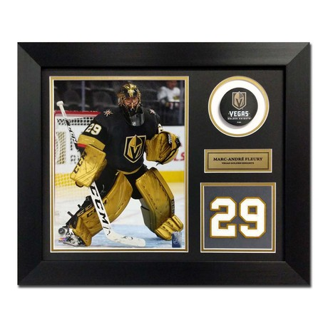 Marc-Andre Fleury // Vegas Golden Knights // Jersey Number Display