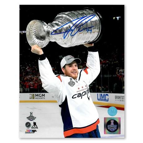 John Carlson // Washington Capitals // Autographed 2018 Stanley Cup Photo